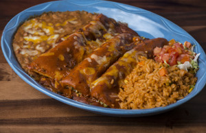 kmachos Classic Cheese & Onion Enchiladas