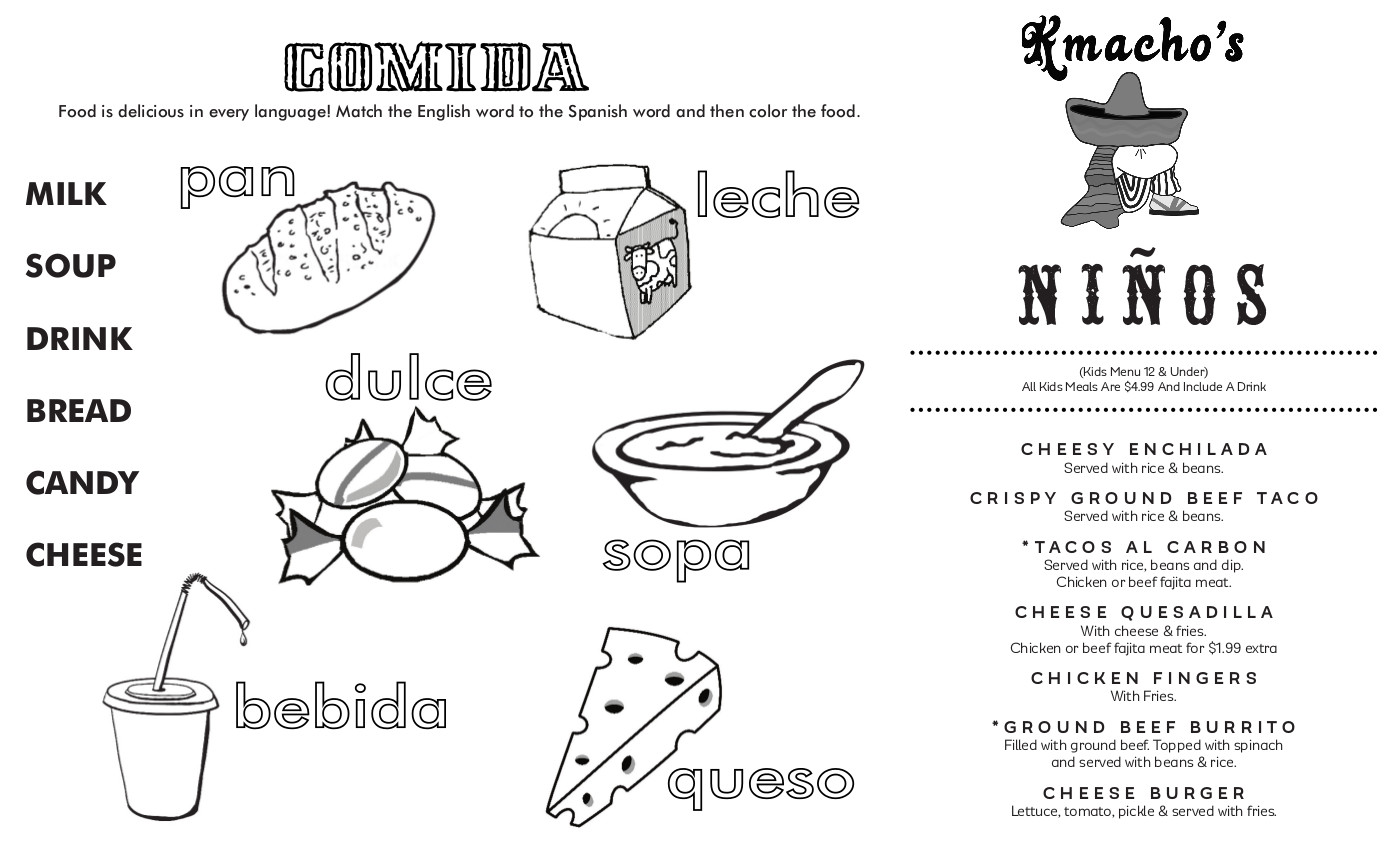 KMachos Kids Menu